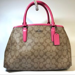 Coach SMALL MARGOT CARRYALL IN SIGNATURE